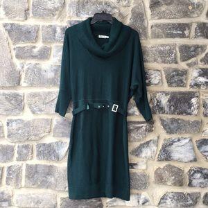 Eliza J. Green Dress Cowl Neck Long